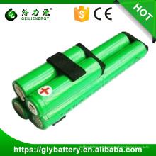 Baterías recargables de Ni-MH 1500mAh AA 7.2V / paquetes de las células para la barredora