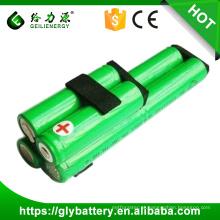 Baterias recarregáveis Ni-MH 1500mAh AA 7,2V / Cells Packs para vassoura