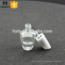 clear 15ml glass empty custom nail polish bottle
