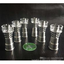 6-em-1 Qualidade de Função Acessórios para Fumar Domeless Titanium Nail Quartz Bowl Glass Banger Atacado