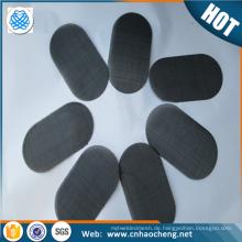 Filtertuchscheibe des schwarzen Drahttuches / des Edelstahls 304 für Extrudermaschine