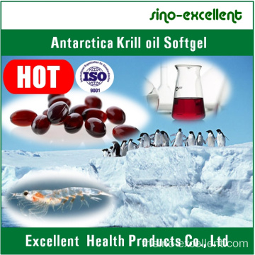 Softgel/Soft Capsule d'huile de Krill Antarctique