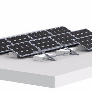 Système de montage de panneau solaire inclinable à toit plat et inclinable