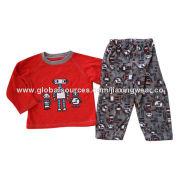 Kids polar fleece pajamas set, OEM orders are welcome