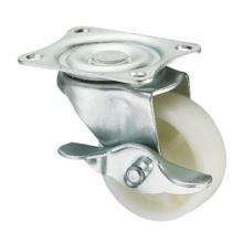 Серия Light Duty Caster - пластинчатая вилка W / боковой тормоз - PP