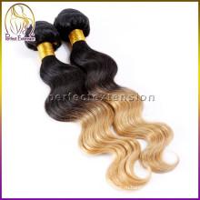 613# мед светлые волосы булочки штук, перуанский волос тела волны волосы плетение