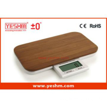 nature bamboo square food touch hidden display kitchen scale