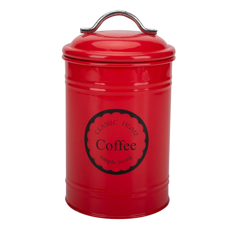 Red Metal Storage Box