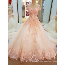 LS03241 Off shoulder satin dildos latest bridal wedding gowns pink hot sex women pictures modern