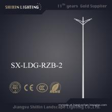 Braço Duplo Poste de Luz em Aço Inoxidável 6m