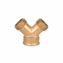Brass metal Water hose Y spliter