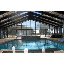 Cubierta de diseño de piscina de estructura de acero prefabricado
