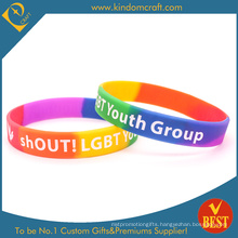2015 Promotion Popular 5 Brand Color Segment Silicone Wristband (KD1896)