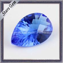 Tanzanite Blue Pear Millennium Cut Cubic Zirconia for Jewellry