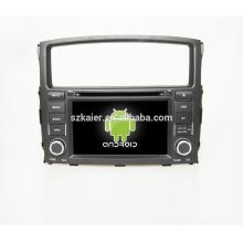Quad core! Dvd de voiture avec lien miroir / DVR / TPMS / OBD2 pour 7inch écran tactile quad core 4.4 Android système Mitsubishi Pajero