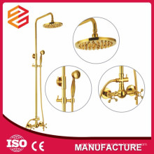 gold plated bathroom faucet wall mounted bath shower faucet set