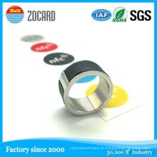 Qualidade Aço Inoxidável Magic NFC Smart Ring para Smart Phone Atacado