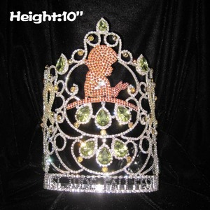 10in Height Crystal Wholesale Custom ST.Jude Pageant Crowns