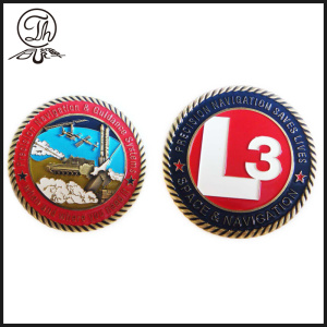 Military Challenge coin around chains