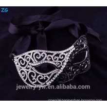 Beautiful rhinestone half black masquerade party masks