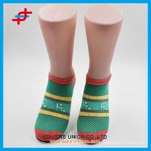 OEM service mode d'été nouveau design brillant couleur rayé tricoté chaussettes de cheville