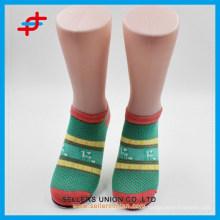 OEM service summer fashion new design bright colour stripe knitted ankle socks