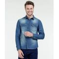 Custom-Made Men Long Sleeve Denim Causal Shirt