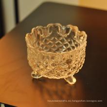 Candelero religioso cristalino de las mercancías caseras del cuenco de cristal