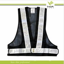 Custom Traffic Black Protective Reflective Safety Vest (KY-V009)