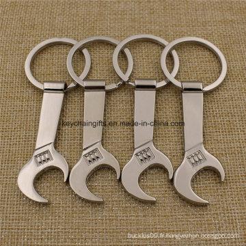 Ouvre-bouteille avec clé en alliage de zinc personnalisé avec porte-clés