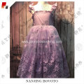JannyBB New design purple vintage organza dress