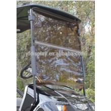 Pare-brise acrylique de chariot de golf teinté fendu pour TXT pour la voiture de golf