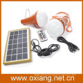 multi color changing 3W solar led light bulb with remote controller