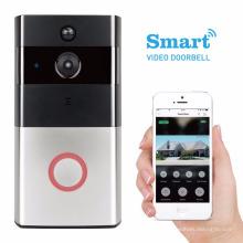 Timbre video casero de la seguridad en el hogar por el teléfono o timbre androide cámara oculta timbre inalámbrico de largo alcance de la agua