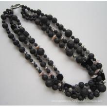 Самое популярное в мире модное ожерелье из 3 строк, ювелирные изделия с шармом