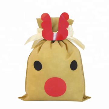 Karikatur-Rotwild-Weihnachtsvlies-Geschenk-Taschen-Herstellung