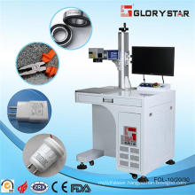 Besktable Type Fiber Laser Marking Machine for Translucent Plastic Buttons