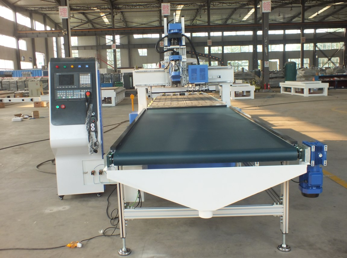 loading and unloading cnc router