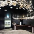 Nouveau bureau design grand lustre de projet moderne de luxe