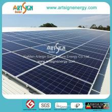 Estrutura solar da montagem para os suportes superiores do picovolt dos painéis solares de telhado da lata