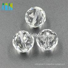 30mm cristal clair lustre pendentif boule à facettes