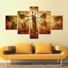 Grand mur moderne Peinture à l'huile de peinture décorative