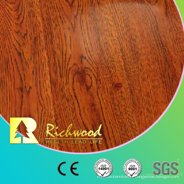 12.3mm HDF AC4 Handscraped Oak Laminated Wood Flooring