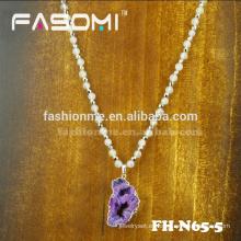 Collar de bolas de piedra roja natural venta caliente FASOMI