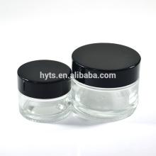 atacado transparente e âmbar jarro de vidro de 1 oz