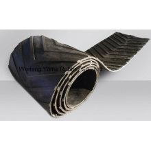 Correa transportadora de goma Chevron para plantas de carbón y arena