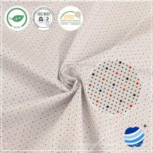 40x40 + 40D 132X66 Densidade 146cm 119gsm camiseta de camisa 100% algodão esticar tecido branco para roupa de camisa tecido de camisa clássico