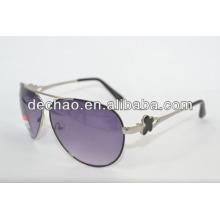 Novo design de óculos de sol aviador de metal, óculos de sol baratos aviador, óculos de sol aviador personalizado