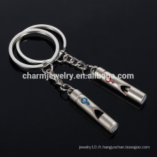 Couple Sifflet Porte-clés Porte-clés pour Amour Cadeau Créatif Cadeau Keychain coeur Beau YSK006