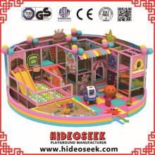 Lovely Pink Indoor Playground Equipment para el supermercado